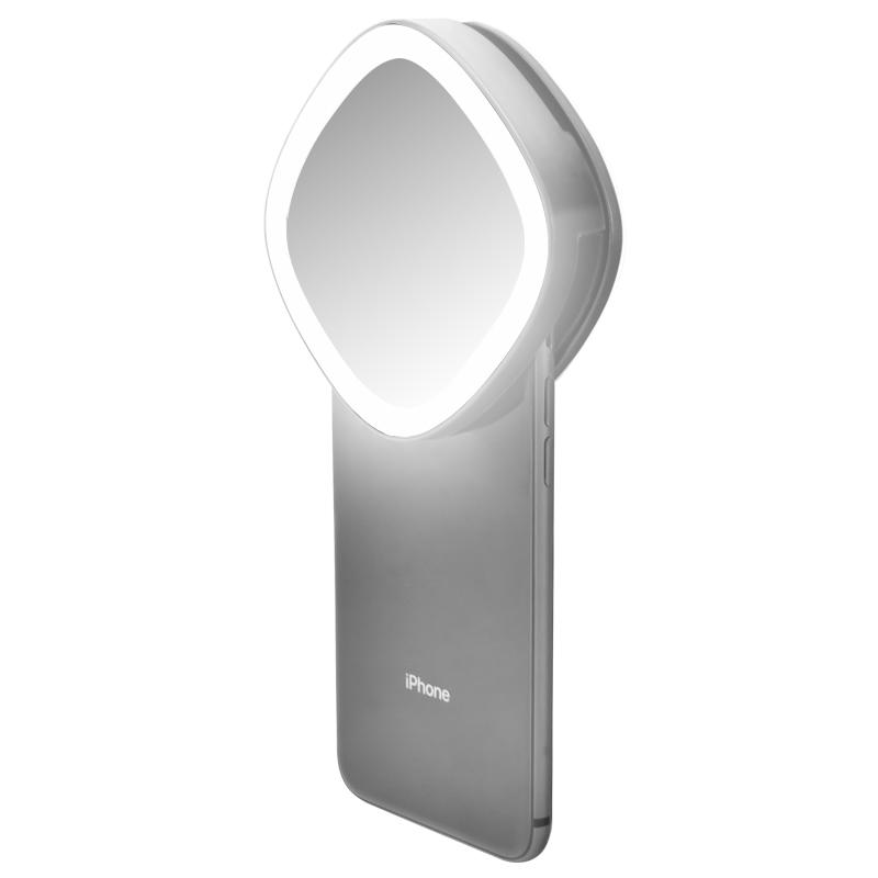 LED rechargeable selfie + mirror + powerbank - ML02R