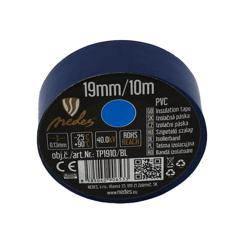 Insulation tape 19mm/10m blue -TP1910/BL