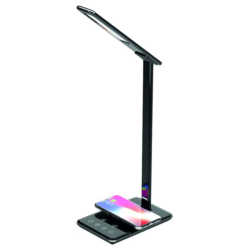 LED desk lamp JOY dimming, timer, wireless charging, USB 6W - DL2301/B