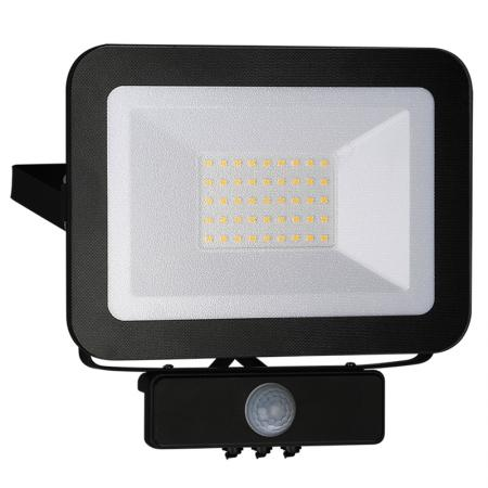 LED HQ floodlight 30W+PIR IP65 senzor/4000K/BK/PS - LF2023S