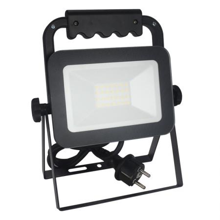 LED HQ floodlight 20W+handle/4000K/BK/H - LF2022H