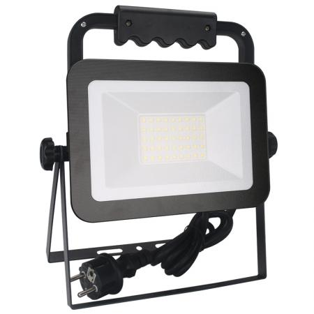 LED HQ floodlight 30W+handle/4000K/BK/H - LF2023H