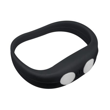 Black bracelet with LED light- LW101