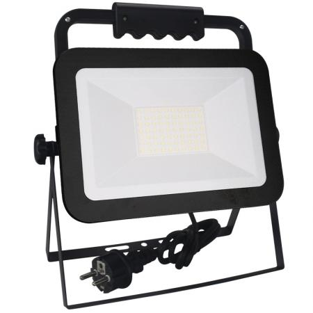 LED HQ floodlight 50W+handle/4000K/BK/H - LF2024H