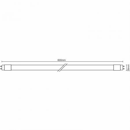 LED tube 10W - T8/600mm/6500K - TLS201